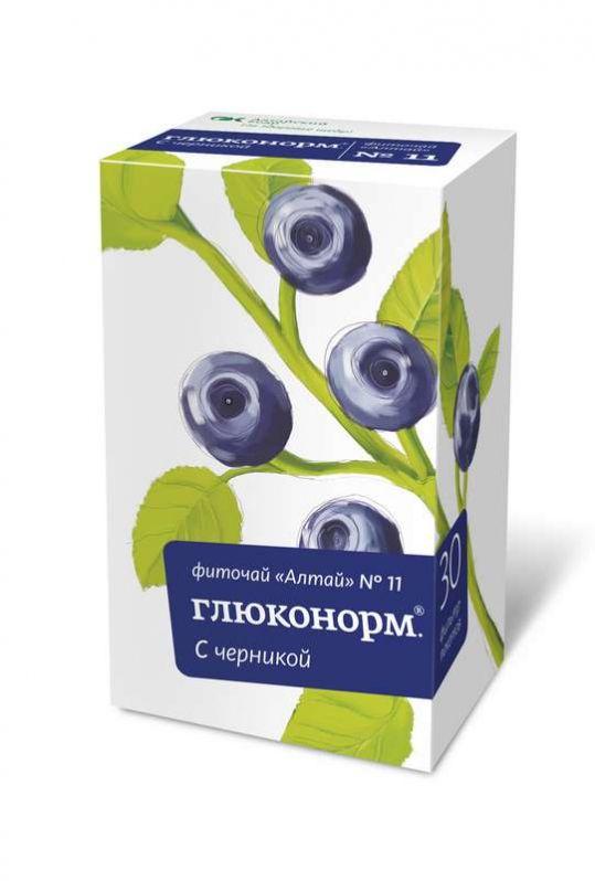 Фиточай алтай n11 глюконорм черника n30 фильтр-пакет, фото №1