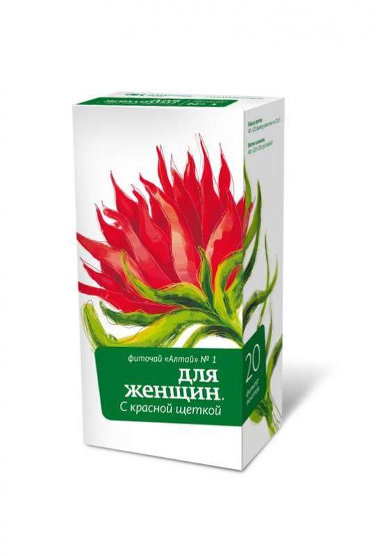 Фиточай алтай n1 красная щетка для женщин n20 фильтр-пакет, фото №1