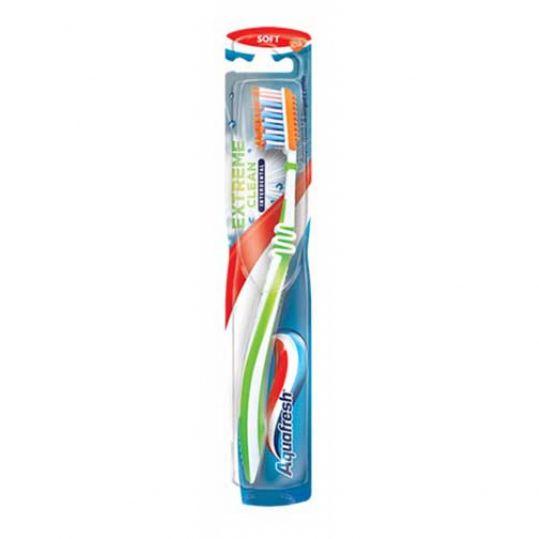 Аквафреш экстрим клин зубная щетка средняя, фото №1