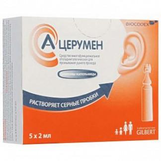 А-церумен средство для промывания ушного прохода 2мл 5 шт. флакон -капельница
