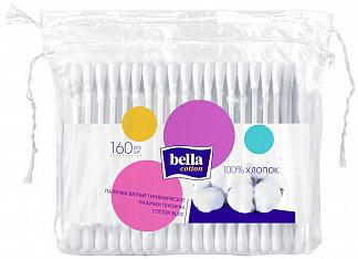 Белла коттон ватные палочки пакет 160 шт.