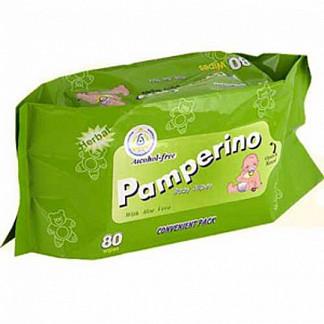 Памперино салфетки влажные детские без отдушки 80 шт.