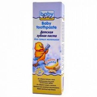 Бэбилайн зубная паста банан 1-4лет 75мл