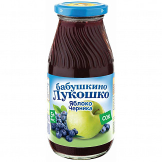 Бабушкино лукошко сок яблоко/черника 5+ 200мл