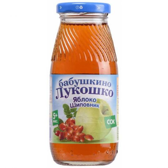 Бабушкино лукошко сок яблоко/шиповник 5+ 200мл, фото №1