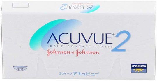 Акувью 2 линзы контактные r8,7 -2,00 6 шт. джонсон & джонсон, фото №1