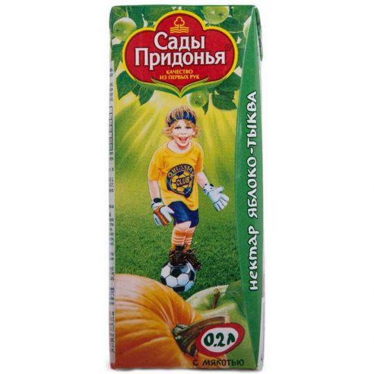 Сады придонья сок яблоко/тыква 5+ 200мл, фото №1