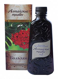 Алтайские травы бальзам n2 витаминнный 250мл алсу