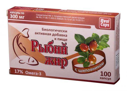 Рыбий жир реалкапс шиповник капсулы 100 шт., фото №1