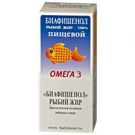 Рыбий жир биафишенол пищевой 100мл, фото №1