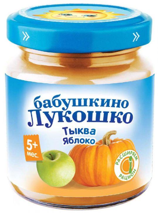 Бабушкино лукошко пюре тыква/яблоко 5+ 100г, фото №1