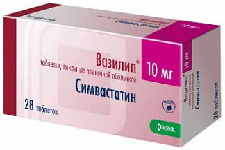 Вазилип 10мг 28 шт. таблетки покрытые пленочной оболочкой крка, д.д., ново место