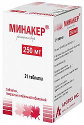 Минакер 250мг 21 шт. таблетки покрытые пленочной оболочкой