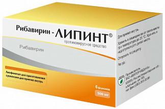 Рибавирин липинт 500мг 6 шт. лиофилизат для приготовления суспензии вектор-медика