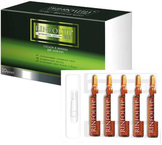 Ринфолтил силекс лосьон с кремнием для мужчин 10 шт. ампулы pharmalife researci, фото №1