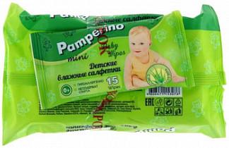 Памперино салфетки влажные детские алоэ 80 шт. + подарок салфетки 15 шт.