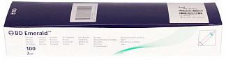 """Бектон дикинсон эмеральд шприц трехкомпонентный 2мл с иглой 23g 1 1/4"""" (0,6x30мм) 100 шт."""