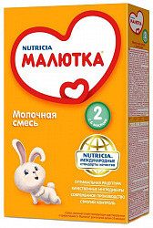 Малютка 2 смесь молочная с 6 месяцев 350г 12 шт.