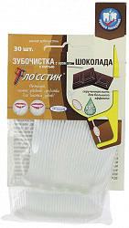 Флосстик зубочистка с нитью и стимулятор десен шоколад 30 шт.
