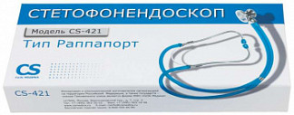 Сиэс медика стетофонедоскоп cs-421 голубой