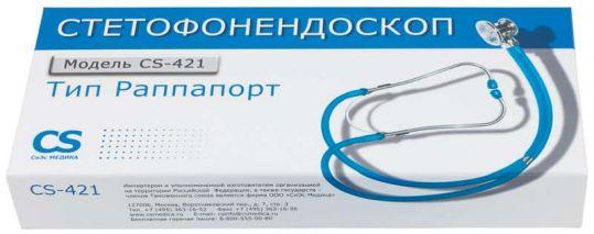 Сиэс медика стетофонедоскоп cs-421 голубой, фото №1