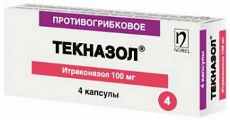 Текназол 100мг 4 шт. капсулы