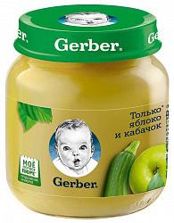 Гербер пюре яблоко/кабачок 5+ 130г