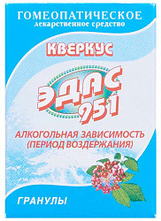 Кверкус эдас-951 20г гранулы гомеопатические холдинг эдас оао