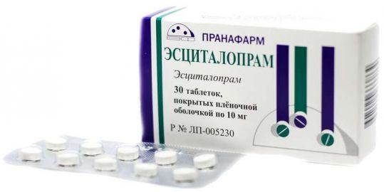 Эсциталопрам 10мг 30 шт. таблетки покрытые пленочной оболочкой пранафарм, фото №1