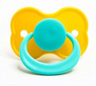Соска-пустышка латексная стрекоза с кольцом в индивидуальной упаковки