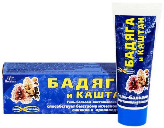 Бадяга гель-бальзам каштан (ф193) 75мл, фото №1