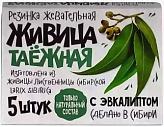 Живица таежная жевательные резинка (эвкалипт) 5 шт.