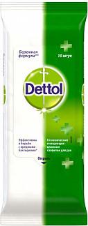 Деттол салфетки влажные антибактериальные нежность 10 шт.
