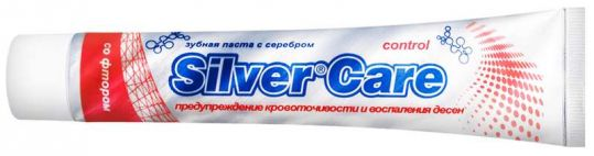 Сильвер кэа контрол зубная паста со фтором 75мл, фото №1