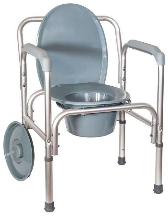 Амрус кресло-туалет amсв6804 облегченное со спинкой, фото №1