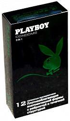 Плэйбой презервативы латексные 3 в 1 12 шт.