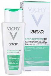 Виши деркос шампунь интенсивный против перхоти для нормальных и жирных волос 200мл