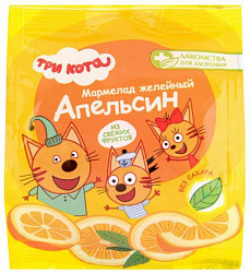 Лакомства для здоровья три кота мармелад желейный апельсин 35г