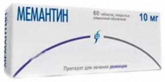 Мемантин 10мг 60 шт. таблетки покрытые пленочной оболочкой