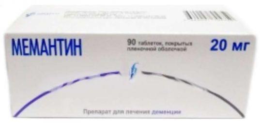 Мемантин 20мг 90 шт. таблетки покрытые пленочной оболочкой, фото №1