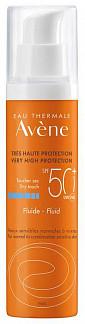 Авен флюид для лица солнцезащитный с тонирующим эффектом spf50+ 50мл