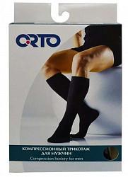 Орто гольфы компрессионные мужские плотные арт.324 размер s черный