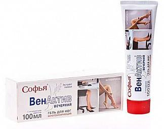 Софья венактив форте вечерний гель для ног с охлаждающим эффектом 100мл