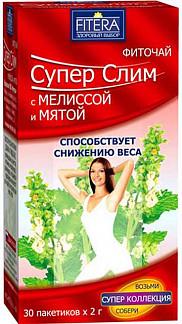 Супер слим чай мята и мелисса 30 шт. фильтр-пакет
