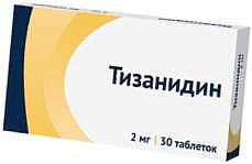 Тизанидин 2мг 30 шт. таблетки