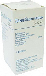 Дакарбазин медак 500мг 1 шт. лиофилизат для приготовления раствора для внутривенного введения