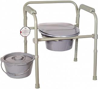 Амрус кресло-туалет amсв6806 стальное с пластиковой спинкой