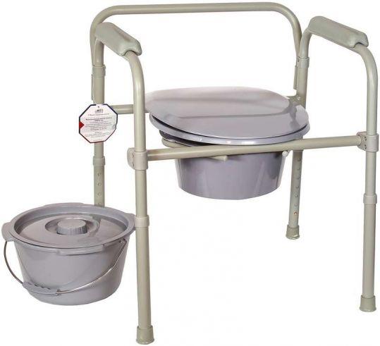 Амрус кресло-туалет amсв6806 стальное с пластиковой спинкой, фото №1
