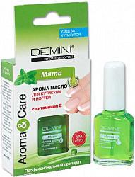 Демини масло для ногтей и кутикулы с витамином е мята 11мл