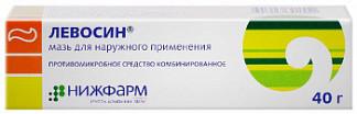 Левосин 40г мазь для наружного применения